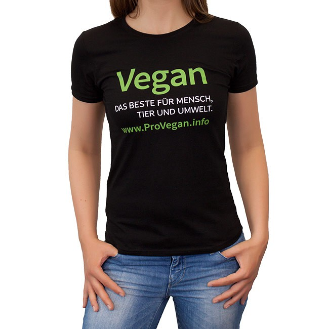 ProVegan T-Shirt Woman (schwarz)