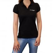ProVegan Poloshirt Woman (schwarz)